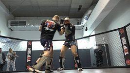 Miloš Petrášek vs. Michal Martínek a jejich lehký sparing v Gym Reinders MMA