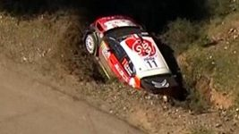 Loebova nehoda během Korsické rallye