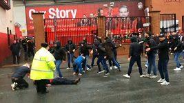 Fanoušci Liverpoolu a Říma se před zápasem porvali