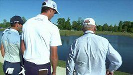 Aligátor znepříjemňoval golfistovi život