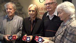 Rodiče Jany Novotné převzali minci s portrétem své dcery byla u toho legendární Martina Navrátilová