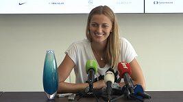 Dneska toho ze mě moc nedostanete, řekla novinářům po svém vítězství v Praze Petra Kvitová