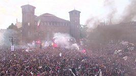 Juventus oslavoval ligový titul v ulicích Turína.