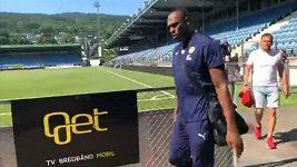 Usain Bolt přišel na trénink norských fotbalistů