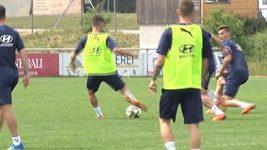 Trénink fotbalistů v Rakousku