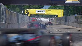 Netradiční nehoda během IndyCar