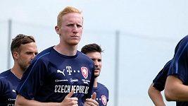 Václav Jemelka, obránce české fotbalové reprezentace.