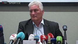 Záznam tiskové konference nového trenéra české hokejové reprezentace.