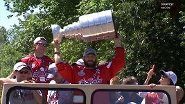 Oslavy hokejistů Washingtonu se Stanley Cupem