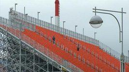 Venkovní tribuny stadiónu v Jekatěrinburgu