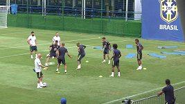 Neymar kvůli zranění nedokončil trénink