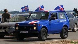 Dva fanoušci vyrazili z Islandu na fotbalový šampionát v Rusku ladou.