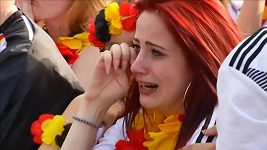 Na německých fanoušcích bylo vidět velké zklamání