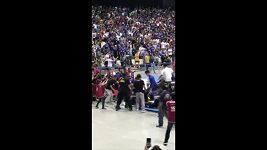 Bitka na basketbalovém utkání