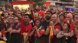 Reakce fanoušků Belgie na postup jejich týmu do semifinále MS ve fotbale.