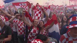 Chorvatští fanoušci vstřebávají v Záhřebu finálovou prohru