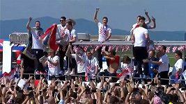 Chorvatský tým se po návratu domů dočkal bouřlivého přivítání
