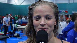 Simona Baumrtová postoupila na ME do semifinále znakařské stovky