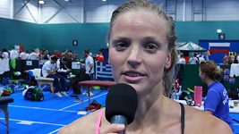Simona Baumrtová po semifinále znakařské stovky
