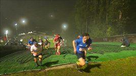 V běhu do kopce po skokanském můstku v Bischofshofenu bodovala Češka