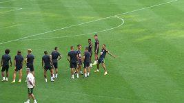 Neymar slavil gól na tréninku jako Cristiano Ronaldo
