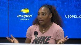 Serena Williamsová po prohraném finále US Open