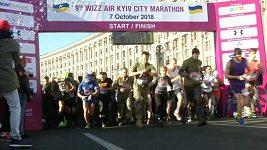 Vojenští váleční veteráni z Ukrajiny, USA a Polska se zúčastnili maratónu v Kyjevě