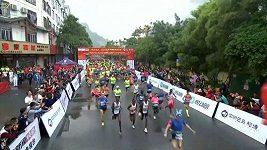Mezinárodního maratónu v Číně se zúčastnilo téměř 10 tisíc závodníků