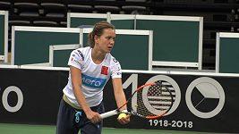 Doufám, že rozhodneme dřív, ne až ve čtyřhře, říká před finále Fed Cupu Barbora Strýcová