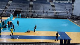 O2 arena se připravuje na MS florbalistů.