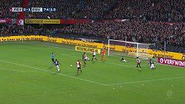 Šlágr nizozemské ligy mezi Feyenoordem Rotterdam a PSV Eindhoven přinesl hodně emocí
