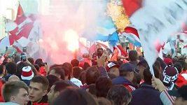 Argentinští fanoušci to v Madridu pořádně rozjeli