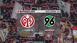 Sestřih utkání 14. kola Bundesligy Mainz - Hannover