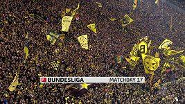 Sestřih utkání 17. kola Bundesligy Dortmund - Mönchengladbach