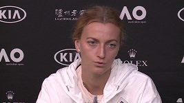 Petra Kvitová hodnotí zápas Australian Open