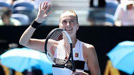 Petra Kvitová postupuje do čtvrtfinále Australian Open.