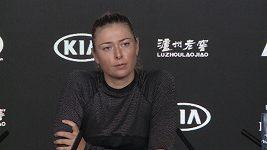 Maria Šarapovová odmítla odpovědět na otázku