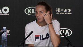 Karolína Plíšková o semifinále Australian Open s Naomi Ósakaovou