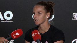 Karolína Plíšková po semifinále Australian Open