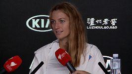 Petra Kvitová po semifinále v Melbourne