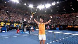 Nadal vyřadil v semifinále AO Tsitsipase