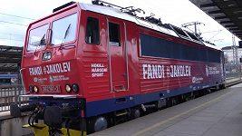Speciální vlak pro hokejové mistrovství světa