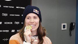 Eva Samková hýří po zlatém mistrovství světa vtipem a dobrou náladou.
