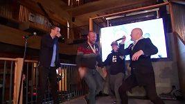 MS v alpském lyžování v Aare, loučící se Aksel Lund Svindal zpívá