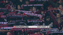Sestřih utkání 22. kola Bundesligy Norimberk - Dortmund