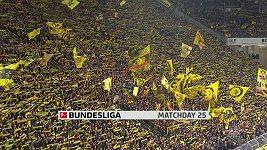 Sestřih utkání 25. kola Bundesligy Dortmund - Stuttgart