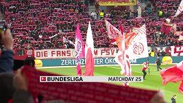 Sestřih utkání 25. kola Bundesligy Mohuč - Mönchengladbach