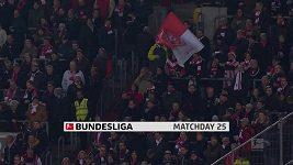 Sestřih utkání 25. kola Bundesligy Düsseldorf - Frankfurt
