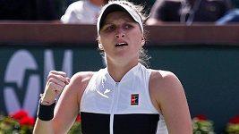 Sestřih zápasu Vondroušová - Halepová v Indian Wells