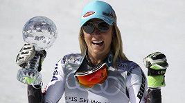 Američanka Mikaela Shiffrinová získala čtvrtý křišťálový glóbus v této lyžařské sezoně.